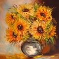 Słoneczniki, obraz olejny.