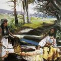 Chrystus i samarytanka, obraz olejny.