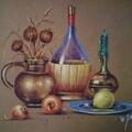 Cytryna, suche pastele na kartonie 50x70 cm