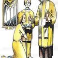 3 Denary - Sakramenty: Komunia święta. Autor talii Światosław Nowicki. Rysunek Robert Sobota.