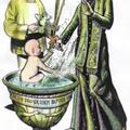 3 Kije - Sakramenty: Chrzest. Autor talii Światosław Nowicki. Rysunek Robert Sobota.