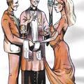 3 Puchary - Sakrament małżeństwa. Autor talii Światosław Nowicki. Rysunek Robert Sobota.