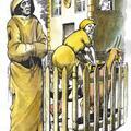7 Denarów - Nie pożądaj żony bliźniego swego. Autor talii Światosław Nowicki. Rysunek Robert Sobota.
