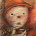 Wielki smutek tego świata, pastel, 50x70