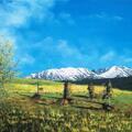 TATRY - widok z Podhala Farby na płótnie Format: 80x50 cm