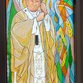 Witraż Papież Jan Paweł II