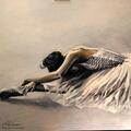 Listopadowa baletnica, 110x120 cm