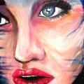 Spójrz, 60 x 40 cm, akryl, podobrazie 3d, zamalowane boki